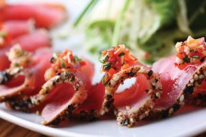 Premium Wild Line Caught Ahi Tuna from Hawaii served in home