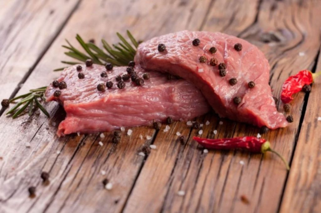 Higher quality meats, dotted with peppercorns, chilies and rosemary.